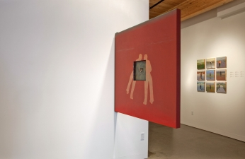<h5>Prompts Installation, Augen Gallery, Portland, Oregon, 2011</h5><p>Back of Complementary Double</p>