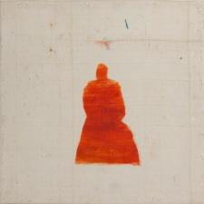 <h5>Expectation</h5><p>Oil, wax on recycled kimono silk on panel, 10 x 10 inches, 2015</p>