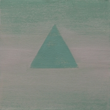 <h5>12_Green Triangle</h5><p>Mineral pigments on paper on panel, 6 x 6 inches, 2020																																																																				</p>