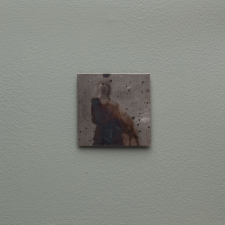 <h5>Ghost Installation: Clothed Ghost</h5><p>					Oxidation, wax on sheet silver (2.5 x 2.5 inches) on painted wall frame (8 x 8 inches), Jeffrey Thomas Fine Art and Augen Gallery, Portland, OR, 2016 																																																																																																																																																																																																																																																																																																																																																																																																																																																																																																																																																																																																																																																																																														</p>