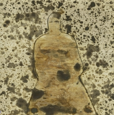 <h5>Ghost Goddess</h5><p>Oxidation, wax on sheet silver, 2.5 x 2.5 inches, 2017</p>