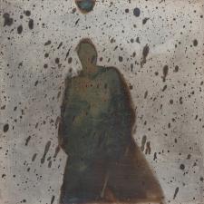 <h5>Rain Ghost</h5><p>Oxidation, wax on sheet silver, 2.5 x 2.5 inches, 2015</p>