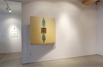 <h5>Prompts Installation, Augen Gallery, Portland, Oregon, 2011</h5><p>Back of Reflected Double																																		</p>