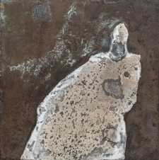 <h5>Spotted Ghost</h5><p>Oxidation, wax on sheet silver, 2.5 x 2.5 inches, 2015</p>