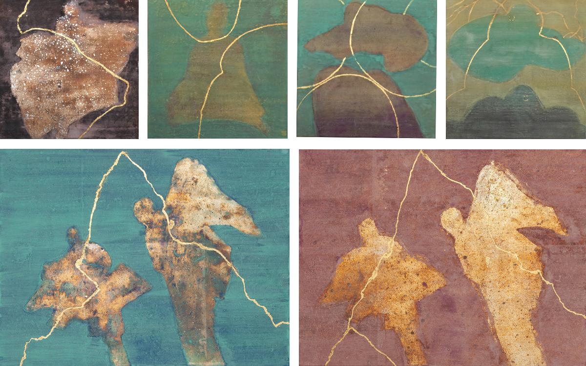 New paintings: Kintsugi